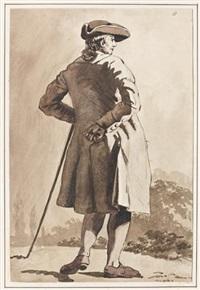 gentilhomme dans un paysage by etienne aubry