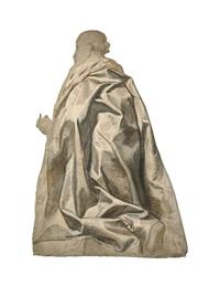 homme agenouillé vu de dos, tourné vers la gauche by jacob jordaens