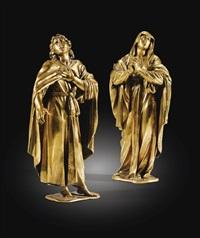 la vierge et saint jean (pair) by francesco mochi