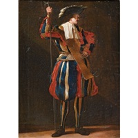 portrait d'un garde suisse by jean barbault