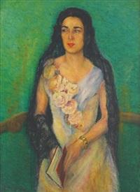 macedonian woman with black scarf by hrandt avachian