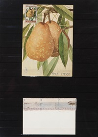 emile d'heyst - achterdijk - post card with stamp (+ another; 2 works) by donald evans