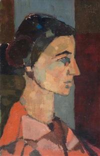 portrait d`une femme by avigdor arikha