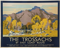 the trossachs, lner by john littlejohns