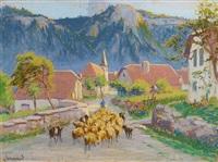retour des moutons by mathurin janssaud