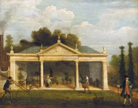 view of vauxhall gardens by samuel wale