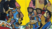 masquerade 21 (diptych) by tete' camille azankpo