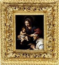 the virgin and child with saint romualdo by alessandro tiarini