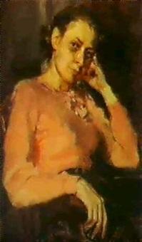 autoportrait by alexandra desnitskaya