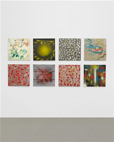 untitled suite of 8 works by ross bleckner