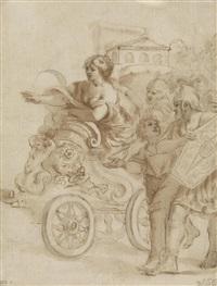 tullia auf dem streitwagen by giovanni francesco romanelli