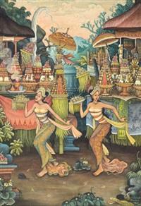 balinese dancers by i wayan barwa