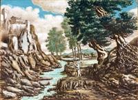 paesaggio romano by alberto savinio