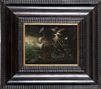 zagrożony burzą na morzu statek z mnichami zanoszącymi modły do niebios by andries van eertvelt