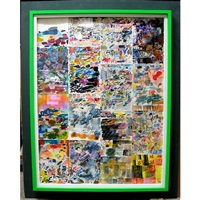 product of a disturbed mind (16 works in 1 frame) by franklyn glazier