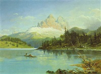 der misurinasee in südtirol by friedrich reinhold the younger
