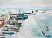 bateaux et voiliers dans le port by arthur fages