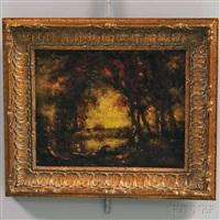 autumn pond by henry hammond ahl