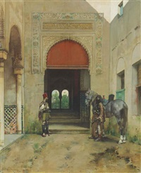 guarding the palace by alberto pasini