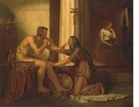 ulysse reconnu par sa nourrice euryclée by edouard pils