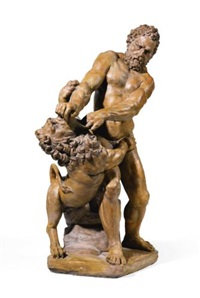 hercules wrestling the nemeian lion by artus quellin the elder