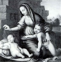 the madonna and infant baptistadoring the sleeping christ by tommaso di stefano lunetti