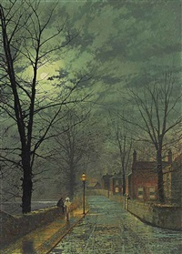 the gossips, bonchurch, isle of wight by john atkinson grimshaw