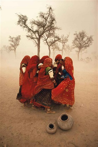 dust storm rajasthan india by steve mccurry