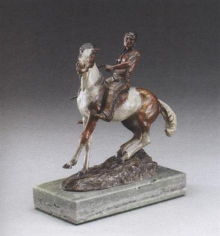 indian on horseback by a.j. miller