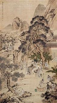 西园雅集图 by leng qian