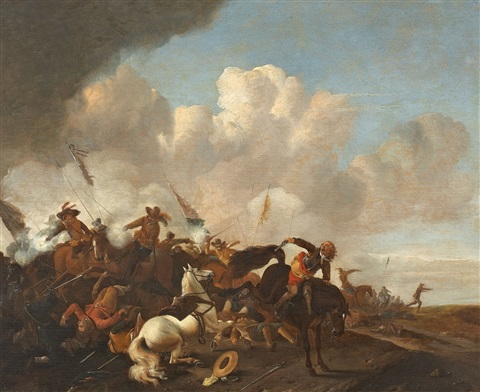 reiterschlacht by philips wouwerman