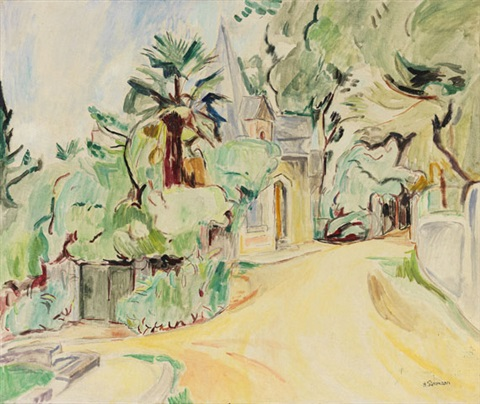 weg in hendaye by hans purrmann