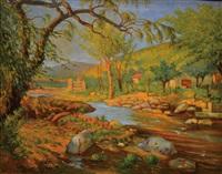 paisaje de río ceballos (córdoba) by alfredo lazzari