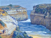 thunder cave, 12 apostles, victoria by rex batterbee