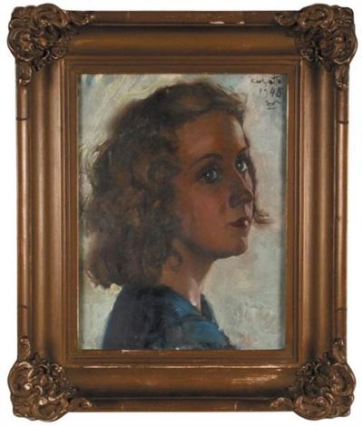 portret dziewczynki by czeslaw kuryatto