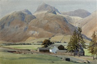 a langdale farm by william heaton cooper