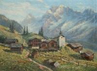 paysage du valais by e. janin