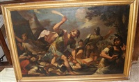 sanson tuant les philistins by aureliano milani