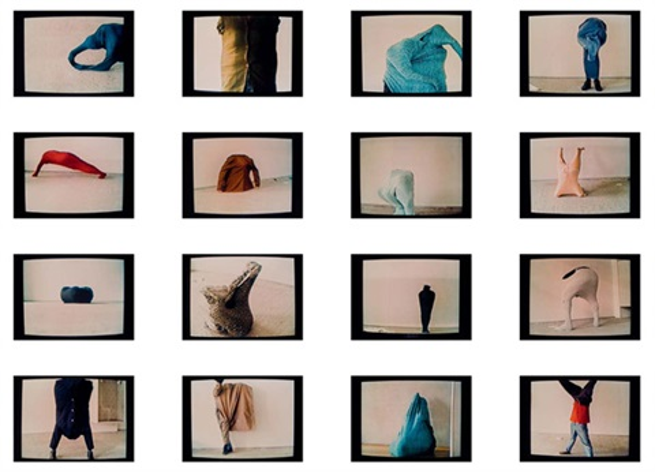 59 stellungen (series of 16) by erwin wurm