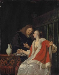 the dish of oysters by frans van mieris