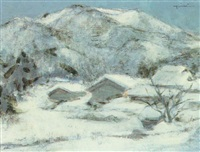 winter landscape by obuchi yoichi
