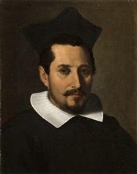 ritratto di prelato con berretta nera by francesco-maria bassi the elder