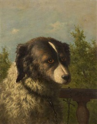 chien berger à la barrière by willem jacobus boogaard