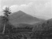 new england mountain landscape by d.a. fisher