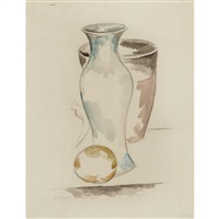african vase and bowl by max weber