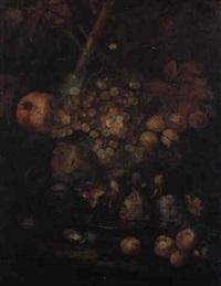 natura morta di frutta con iva e fichi by gilardo da lodi