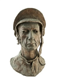 portrait bust of lester piggott by gary trimble