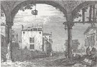 der portikus mit der laterne by canaletto