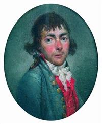 portrait d'homme à la redingote bleue by étienne charles leguay