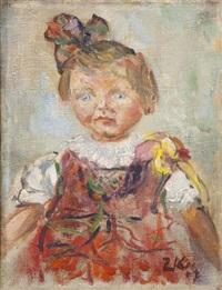 portret małej dziewczynki by zenon kononowicz